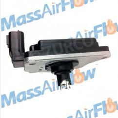 1990-1995 Nissan Truck D21 Mass Air Flow Sensor AFH55M-10